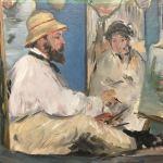 Заказать картину-Мане Эдуард-Завтрак в мастерской, 1868 г. холст, масло, 120х170 см Edouard Manet Die Barke, 1874-Фрагмент