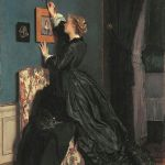 Фото-Стивенс-Alfred Stevens- Im Boudoir, um 1870