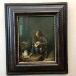 Картина-Терборх Герард-Мальчик с собакой (Мальчик, ищущий блох) (2-я треть XVII века)-фото Анны Прохоровой