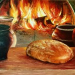 Тепло домашнего очага, холст, масло, 50х70, 2018 г. Ксения Чащина