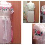 Вишита сукня (етностиль),тканина 100 відсотків льон,муліне peri-Катерина Черненко