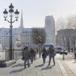 Картина-Hiver ensoleillé sur la place de l'hôtel de ville de Paris-Тьерри Дюваль (Thierry Duval)