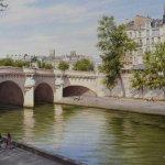 Заказать картину-L'île de la Cité et le Pont Neuf