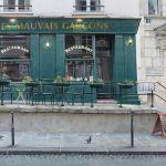 Картина-Les mauvais garçons et les trois pigeons - Aquarelle originale - Paris. Format 55,5 cm x 35,5