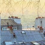Site vue des marches de Montmartre-городской пейзаж