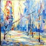 Картины художников-Soon, холст, масло, 60x60 - Елена Жигилевич