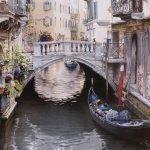 Картина-Un petit pont à Venise