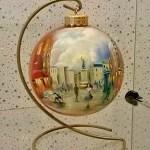 Репродукции известных картин на ёлочных игрушках-картины на заказ