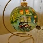 Репродукции известных картин на ёлочных игрушках-картины на заказ2