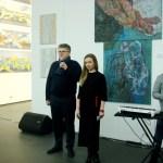 Галерист и скульптор Олег Пинчук с вступительной речью