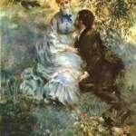 Картина-Пьер-Огюст Ренуар. Любовники (ок. 1880-1890)