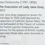 Деларош-Казнь леди Джейн Грей, 1834 -описание