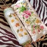 Подушки-схованки для ниток,вишивка хрестом,муліне peri, 60х27см., прямокутна форма, довжина подушки-схованки 55см.