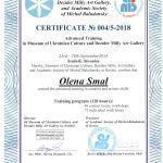 Сертификат музея Украинской культуры Свидник