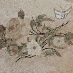 Косик Анастасия, Чайная роза, мозаика из неокрашенной яичной скорлупы, 25х35, 2018г.
