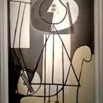 Пабло Пикассо, «Художник с палитрой и мольбертом», 1928 г.