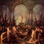Алессандро Маньяско. «Поховання ченця», початок 18 ст.
