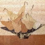 Косик Анастасия, Груши, мозаика из неокрашенной яичной скорлупы, 30х20, 2019г