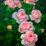 Розы в саду, холст, масло, 50х70, 2018 г. -Анастасия Алёхина