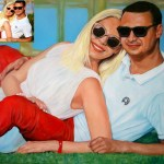Портрет молодожёнов, холст, масло, 60х80, 2019 г. Олег М.Караваев