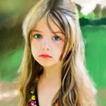 Девочка на природе, iPad Pro, программа Proceate - Юлия Блакита
