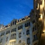 Архитектура Барселоны, вечерело