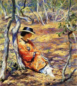 Guy_Rose,_1919_-_In_the_oak_grove- заказать картину - копию