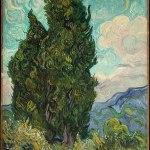 Vincent Van Gogh-Cypresses (June 1889)-The Metropolitan Museum of Art, New York