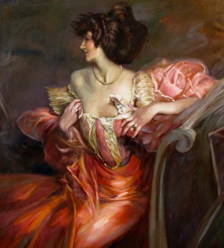 portrait of Marthe de Florian by Giovanni Boldini
