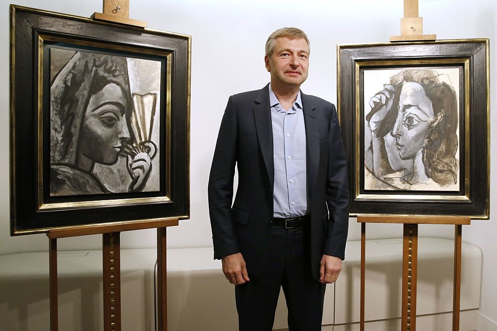 Dmitry Rybolovlev with stolen Picasso paintings
