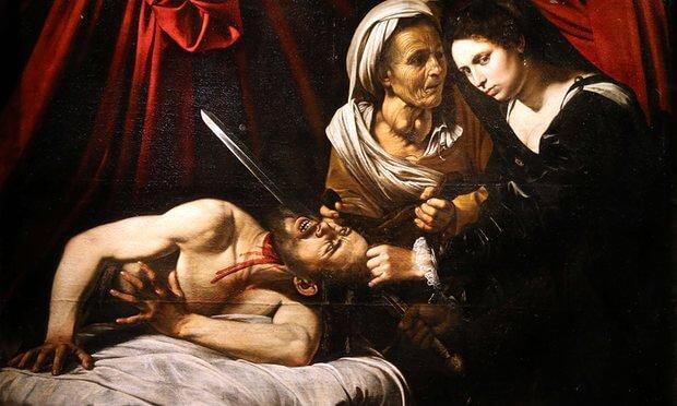 Caravaggio painting Judith Beheading Holofern