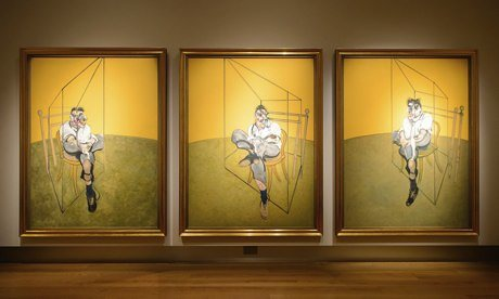 Francis Bacon 3 Studies of Lucian Freud