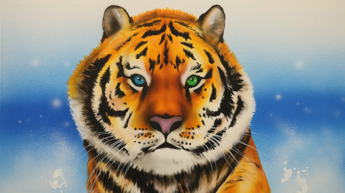 Airbrushing A Bengal Tiger