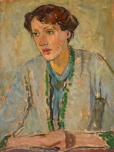 Virginia Woolf -- oil on canvas by ​Vanessa Bell
