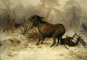 Schenck, August Friedrich Albrecht; Donkey Surprised by a Wolf; Museums Sheffield