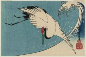 hiroshige_crane-flying-over-wave