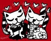 romero-britto_cats-romance