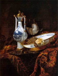willem-kalf_still-life-with-an-aquamanile-fruit-and-a-nautilus-cup-1660