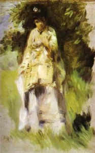 woman-standing-by-a-tree_painter-pierre-auguste-renoir