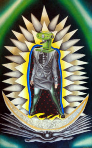 Our Lady (2010) Acrylic on canvas 44×70 inches by Marcos Raya
