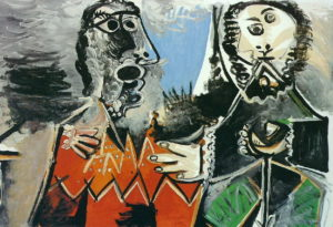Deux Hommes, 1969 oil on canvas by Pablo Picasso (1881-1973)