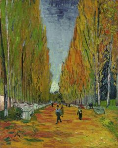 L'allée Des Alyscamps (1888) oil on canvas by Vincent van Gogh