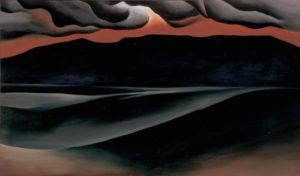 Storm Cloud, Lake George, 1923 Oil on canvas 18 x 30 1/8 inches by Georgia O'Keeffe