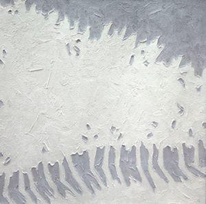 Drift, 2010 oil on canvas 36 x 36 inches by Sara Genn