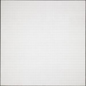 Morning, 1965 1826 x 1819 mm, Acrylic paint and graphite on canvas by Agnes Martin