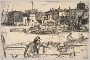 Black Lion Wharf, 1859 Etching 29 × 41 cm by James Abbott McNeill Whistler