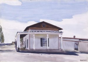 Ranch House, Santa Fe, 1925 watercolor over pencil on paper 13 7/8 x 19 7/8 inches by Edward Hopper (1882 - 1967)