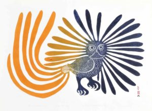 The Enchanted Owl, 1960 Stonecut on paper Printer: Eegyvudiuk Pootoogook 60.9 x 66 cm by Kenojuak Ashevak (1927-2013)