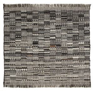 Open Letter (1958) cotton, 57.8 x 60 cm by Anni Albers