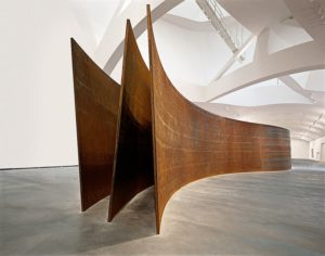 Snake (1994-1997) weathering steel sculpture by Richard Serra